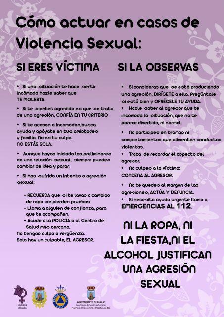 Campaña contra las agresiones y/o abusos sexuales durante las fiestas de San Marcos - 4, Foto 4