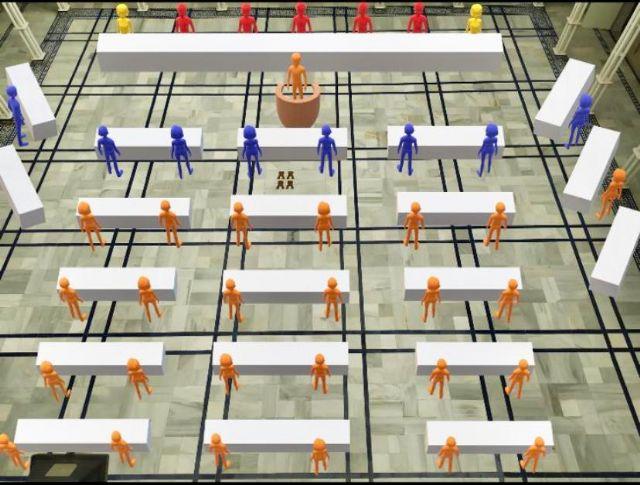 La Asamblea Regional adaptará el Patio de los Ayuntamientos como salón de plenos, con el objetivo de facilitar la participación de todos los diputados - 1, Foto 1
