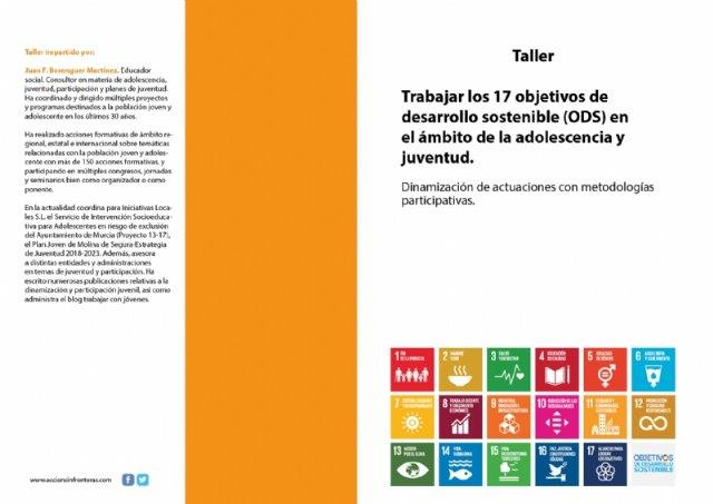 """[Juventud colabora en la organización del Taller """"Trabajar los 17 objetivos de desarrollo sostenible (ODS) en el ámbito de la adolescencia y juventud"""""""