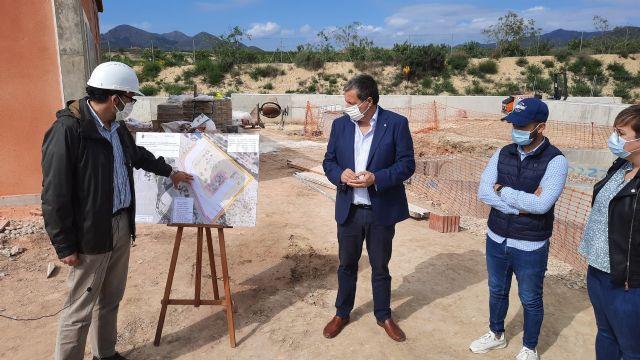 La Comunidad avanza en la construcción de la depuradora de aguas residuales de La Majada en Mazarrón, Foto 1