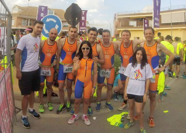 The Triathlon Club Totana participated in the Triathlon Fuente �lamo