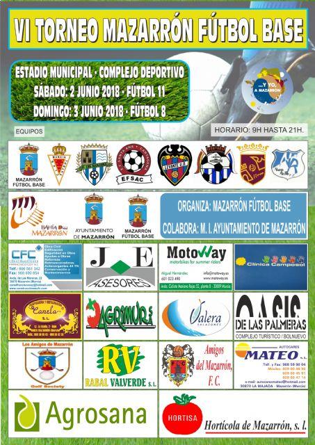 22 equipos de 8 clubs participarán en el VI torneo Mazarrón fútbol base - 2, Foto 2