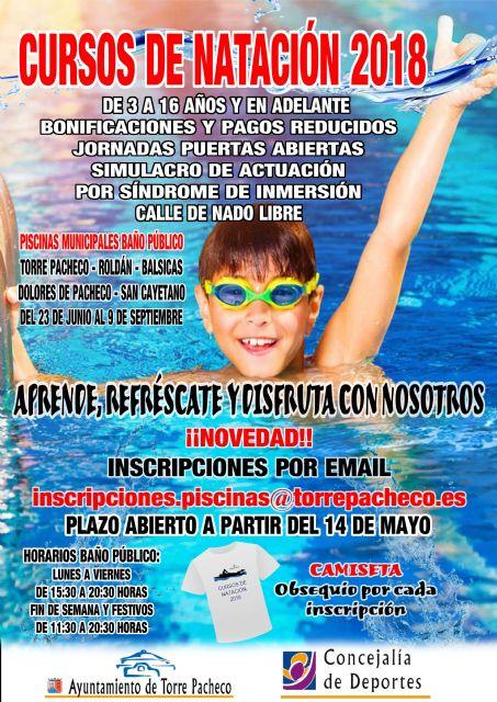 Abierto el plazo de inscripción para los cursos de natación de verano en Torre Pacheco - 3, Foto 3