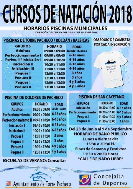 Abierto el plazo de inscripción para los cursos de natación de verano en Torre Pacheco - 4, Foto 4