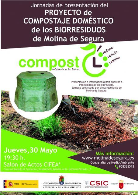 El Ayuntamiento de Molina de Segura pone en marcha un Proyecto de Compostaje Doméstico de los Biorresiduos - 1, Foto 1