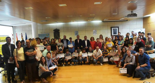 Autoridades regionales y locales de los municipios de Totana, Alhama y Aledo clausuran el programa Labor y entregan los diplomas a los participantes del curso 2018/2019