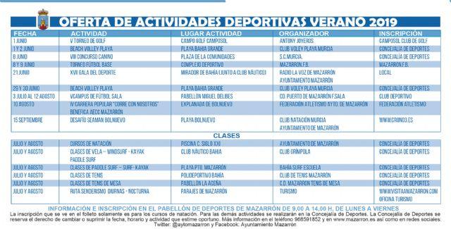 Oferta de actividades deportivas para el verano, Foto 1