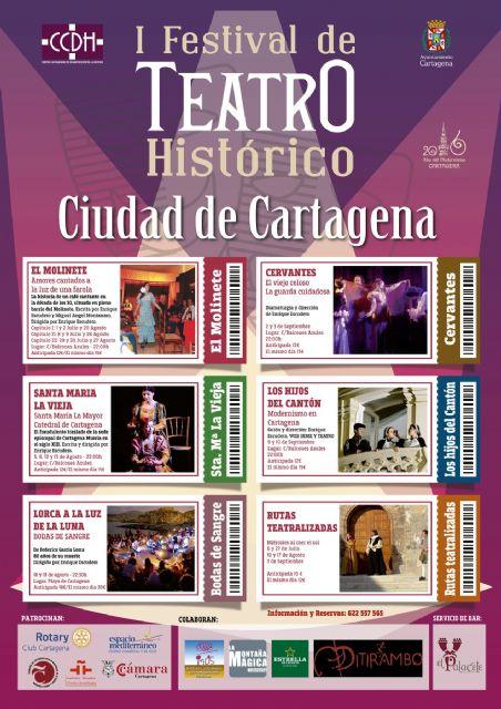 La serie teatral El Molinete mostrará este viernes la Cartagena de los años 30 en el Festival de Teatro Histórico - 1, Foto 1