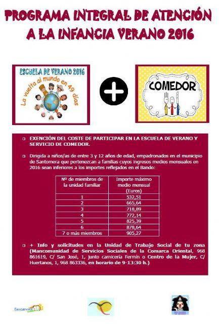 Las familias sin recursos dispondrán este verano de comedor escolar gratuito - 1, Foto 1