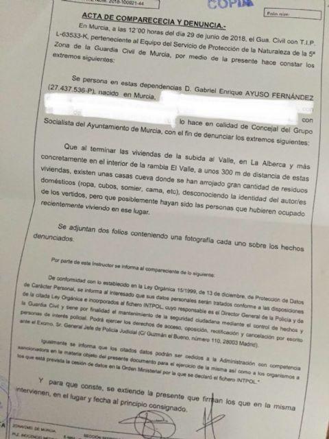 El PSOE denuncia ante el Seprona el vertedero ilegal descubierto en la Rambla El Valle, en La Alberca - 3, Foto 3