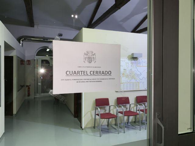 UxA denuncia que el cuartel de la Policía Local de Alguazas está cerrado por falta de personal - 1, Foto 1