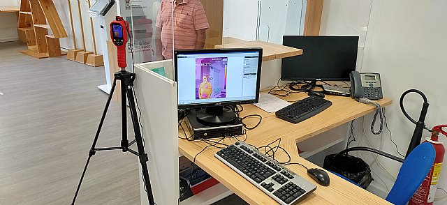 El Ayuntamiento de Cieza instala su primera cámara termográfica en el acceso al edificio del Registro General - 1, Foto 1