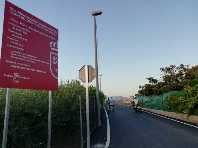 Finalizan las obras de rehabilitaci�n y pavimentaci�n del Camino Cementerio, Foto 2