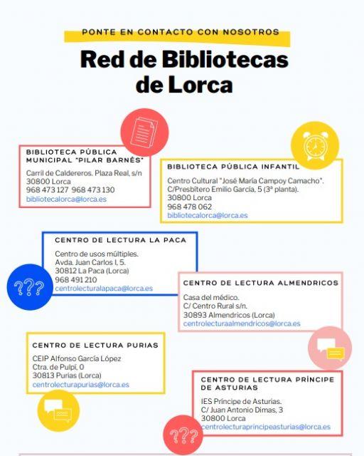 La Red Municipal de Bibliotecas de Lorca recupera mañana los servicios bibliotecarios - 1, Foto 1