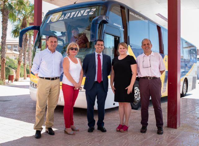 El Gobierno regional garantiza el servicio de autobús que conecta Puerto de Mazarrón con Mazarrón, Mula, Alhama y Totana, Foto 1