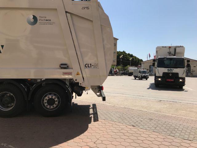 Torre Pacheco se convierte en el primer municipio de la Región en contar con camiones de recogida de basura híbridos - 1, Foto 1