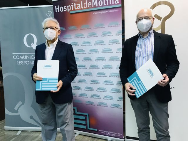 El Hospital de Molina y el Colegio Oficial de Periodistas de la Región de Murcia, juntos en por la seguridad sanitaria de los profesionales colegiados - 1, Foto 1