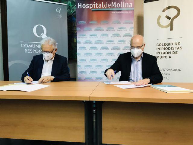 El Hospital de Molina y el Colegio Oficial de Periodistas de la Región de Murcia, juntos en por la seguridad sanitaria de los profesionales colegiados - 3, Foto 3