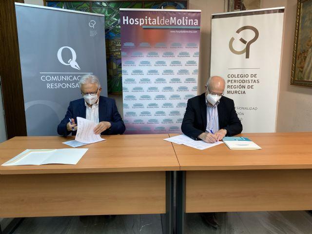 El Hospital de Molina y el Colegio Oficial de Periodistas de la Región de Murcia, juntos en por la seguridad sanitaria de los profesionales colegiados - 4, Foto 4