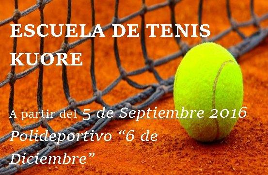 El pr�ximo 5 de septiembre arranca la Escuela de Tenis Kuore en las pistas del polideportivo, Foto 4