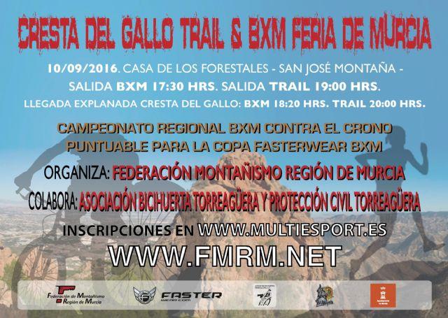 II Cresta del Gallo Trail & BXM Feria de Murcia tendrá lugar el 10 de septiembre