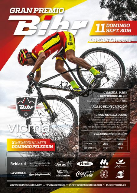 """Continued open until 9 September deadline for applications for the X edition of """"Sunday Pelegrin Memorial MTB Gran Prix Bihr"""""""