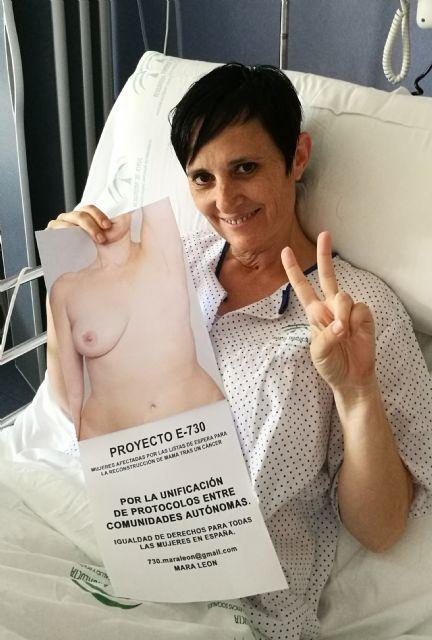 La Concejalía de Sanidad del Ayuntamiento de Totana se une al PROYECTO -730- para reivindicar la reconstrucción mamaria tras un cáncer