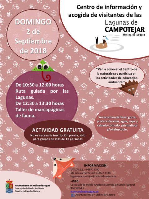 El Centro de Visitantes  de las Lagunas de Campotéjar reabre sus puertas el 2 de septiembre ofertando dos actividades - 1, Foto 1