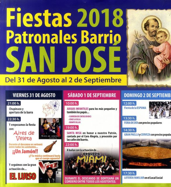 The festivities of the neighborhood of San José are celebrated this weekend with activities for all ages and audiences