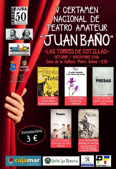 Tres papás para Totó abre mañana el V Certamen Juan Baño de teatro amateur de Las Torres de Cotillas - 1, Foto 1