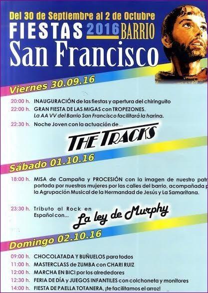 Las fiestas del barrio de San Francisco se celebran durante este fin de semana