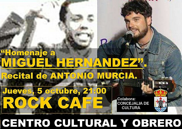 El Centro Cultural y Obrero organiza un concierto-homenaje a Miguel Hernández con motivo del aniversario de su nacimiento - 1, Foto 1