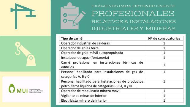 La Comunidad lanza la convocatoria para poder obtener diez tipos de carnés profesionales relativas a instalaciones industriales y mineras - 1, Foto 1
