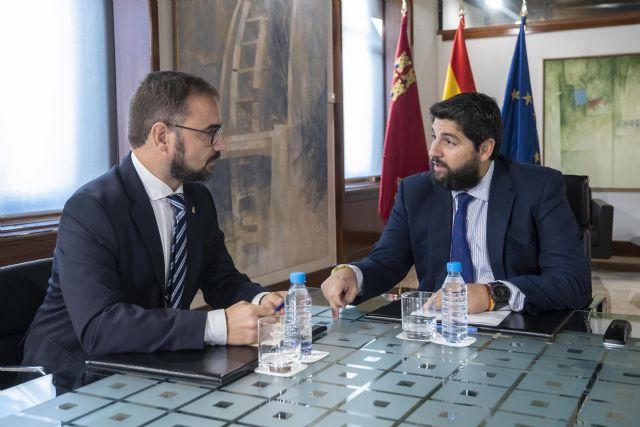 López Miras se reúne con el alcalde de Lorca - 2, Foto 2