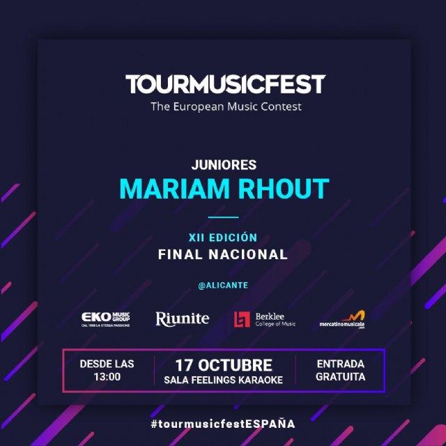 Mariam Rhout - Juniores emergente de Alguazas - ha sido admitida en la final española del Tour Music Fest The European Music Contest - 3, Foto 3