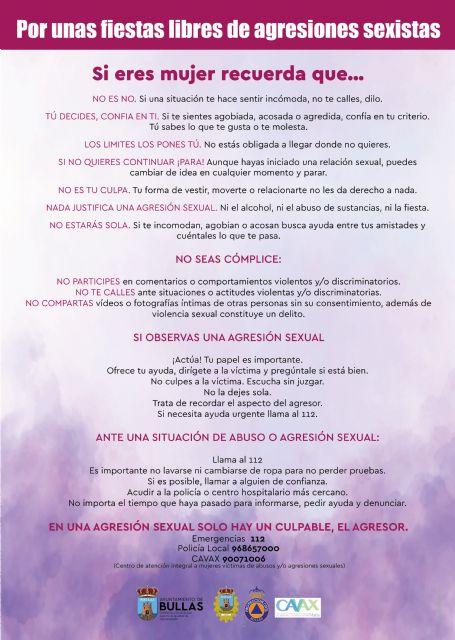 Campaña 'Por unas fiestas libres de agresiones sexistas' - 1, Foto 1
