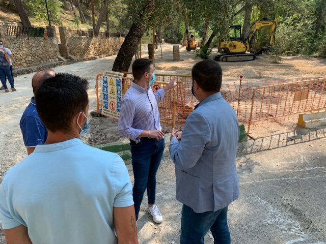 Visita a las obras de adecuación de la segunda fase en las terrazas del Santuario de Nuestra Señora de la Esperanza - 1, Foto 1