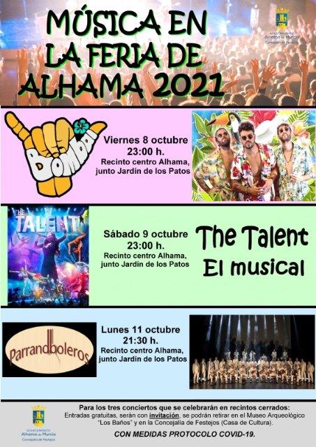 Ampliación del aforo para los espectáculos y conciertos de la Feria de Alhama 2021 - 1, Foto 1