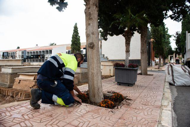 Los cementerios municipales se adecúan para la festividad de Todos los Santos 2018, Foto 1