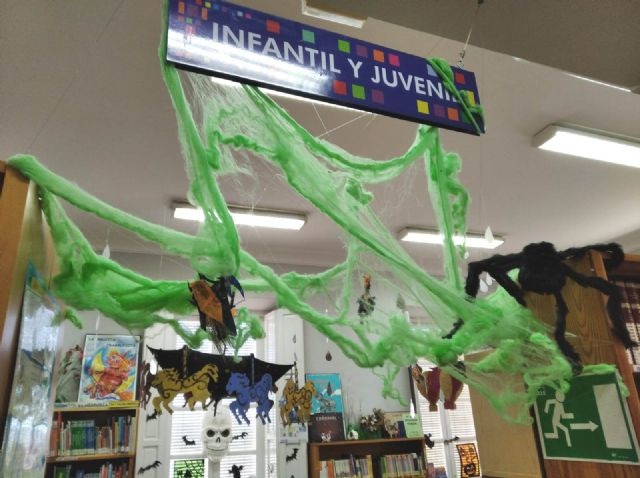 "The ""Mateo García"" Municipal Library is preparing for the Halloween holiday 2019"