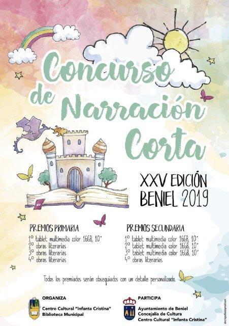 Convocado el XXV Concurso de Narración Corta Beniel - 1, Foto 1