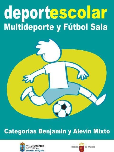 El próximo viernes tendrán lugar las finales y entrega de trofeos de la fase local de multideporte benjamín y fútbol sala alevín de Deporte Escolar