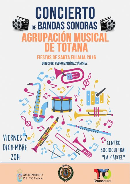 The Totana Musical Group celebrates a concert on the occasion of the Santa Eulalia festivities