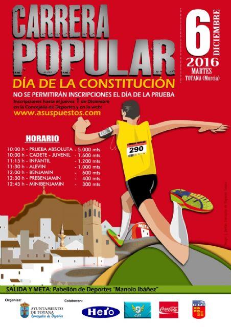 Mañana jueves 1 de diciembre finaliza el plazo de inscripción para la Carrera Popular