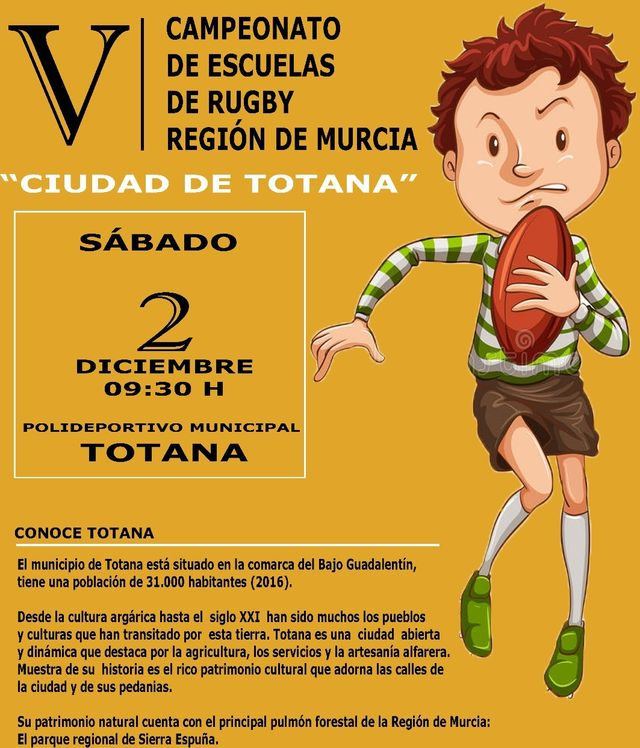 """The V Championship of Rugby Schools """"City of Totana"""" is held this Saturday, December 2, at the Municipal Sports Center """"December 6"""" - 2"""