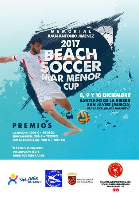 Equipos de Alemania, Francia, Polonia y las comunidades murciana y valenciana se disputarán el Beach Soccer Mar Menor Cup, en Santiago de la Ribera - 1, Foto 1