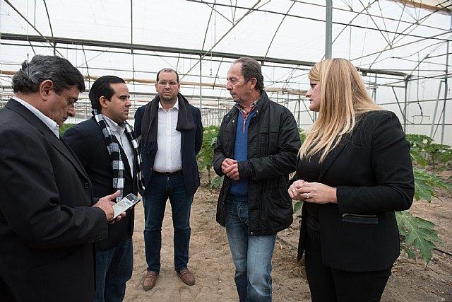 El Ministro de Agricultura de Panamá conoce en Mazarrón la innovación aplicada para generar cultivos subtropicales, Foto 1