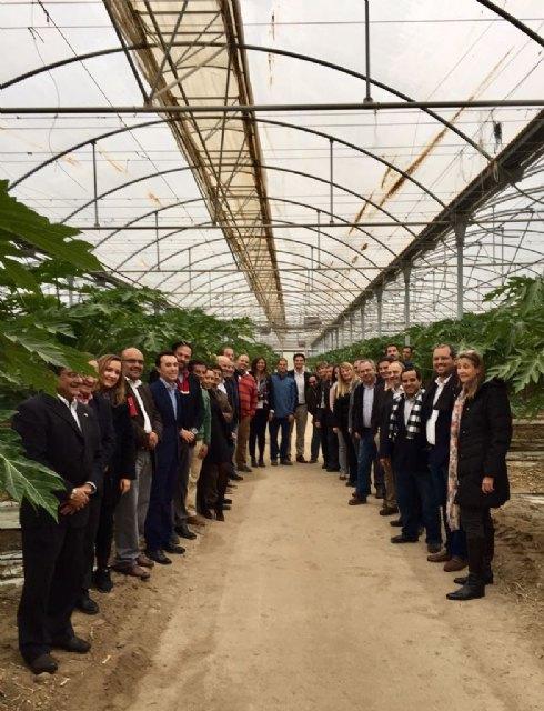 El Ministro de Agricultura de Panamá conoce en Mazarrón la innovación aplicada para generar cultivos subtropicales, Foto 2