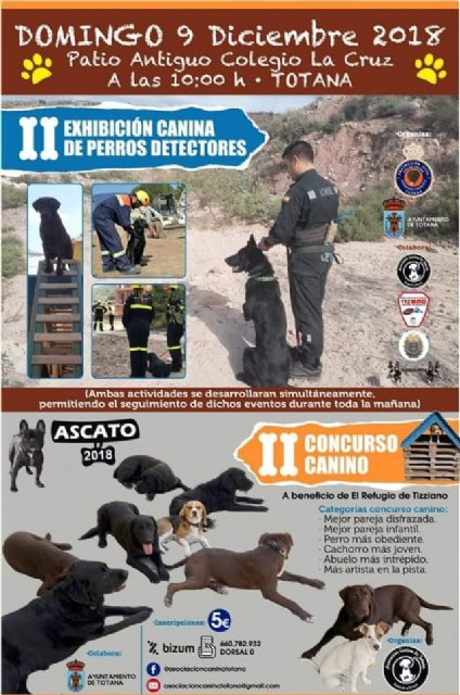 "The II Canine Contest ""ASCATO"" and the II Dog Show of Detective Dogs will be held on December 9 at the old La Cruz School, Foto 2"