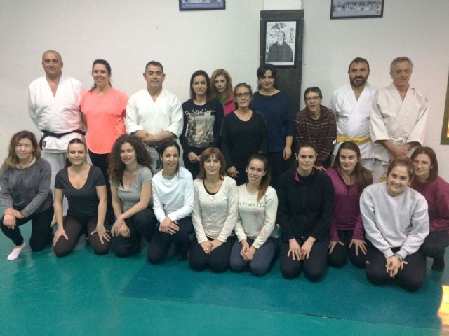 More than thirty women participate in the Women's Self Defense Workshop within the program against Gender Violence